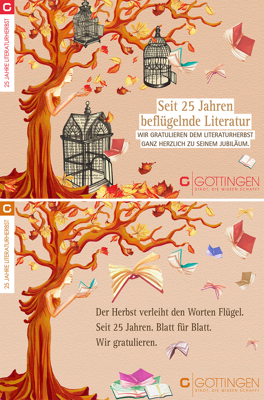 Laura Finke Illustration + Amaretis Agentur für Kommunikation – Literaturherbst Göttingen (first+final)