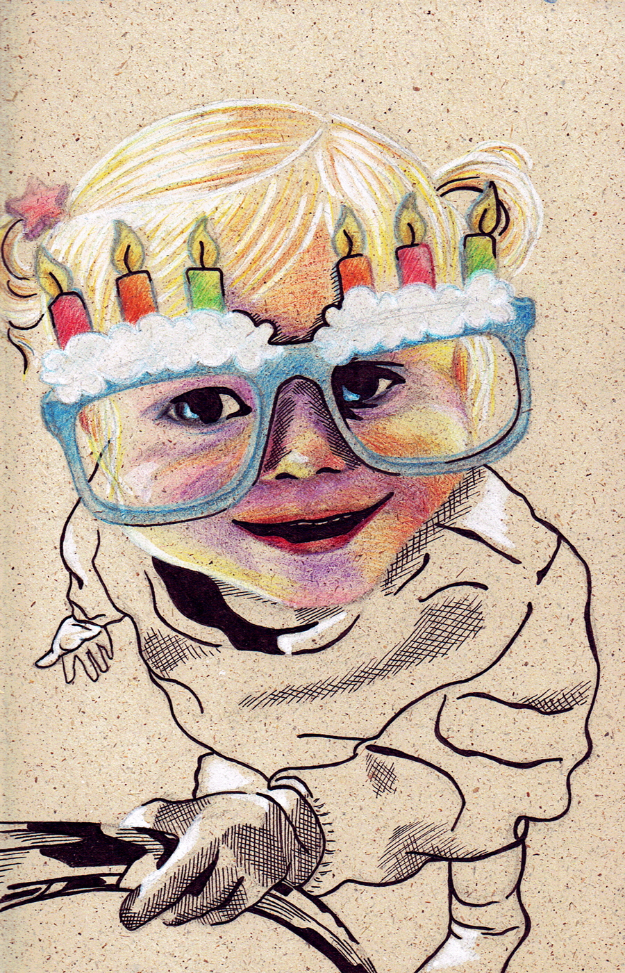 Laura Finke Illustration – Grasspaper-Portrait Birthdaygirl