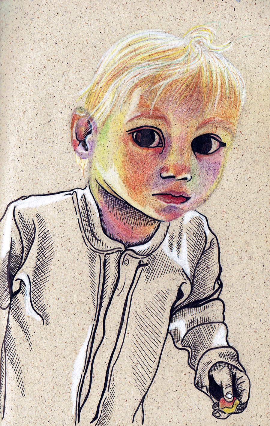 Laura Finke Illustration – Grasspaper-Portrait Babygirl