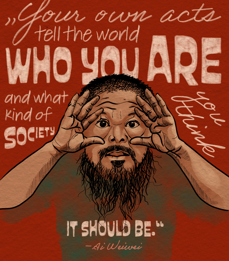 Laura Finke Illustration – Human Rights Ai Weiwei