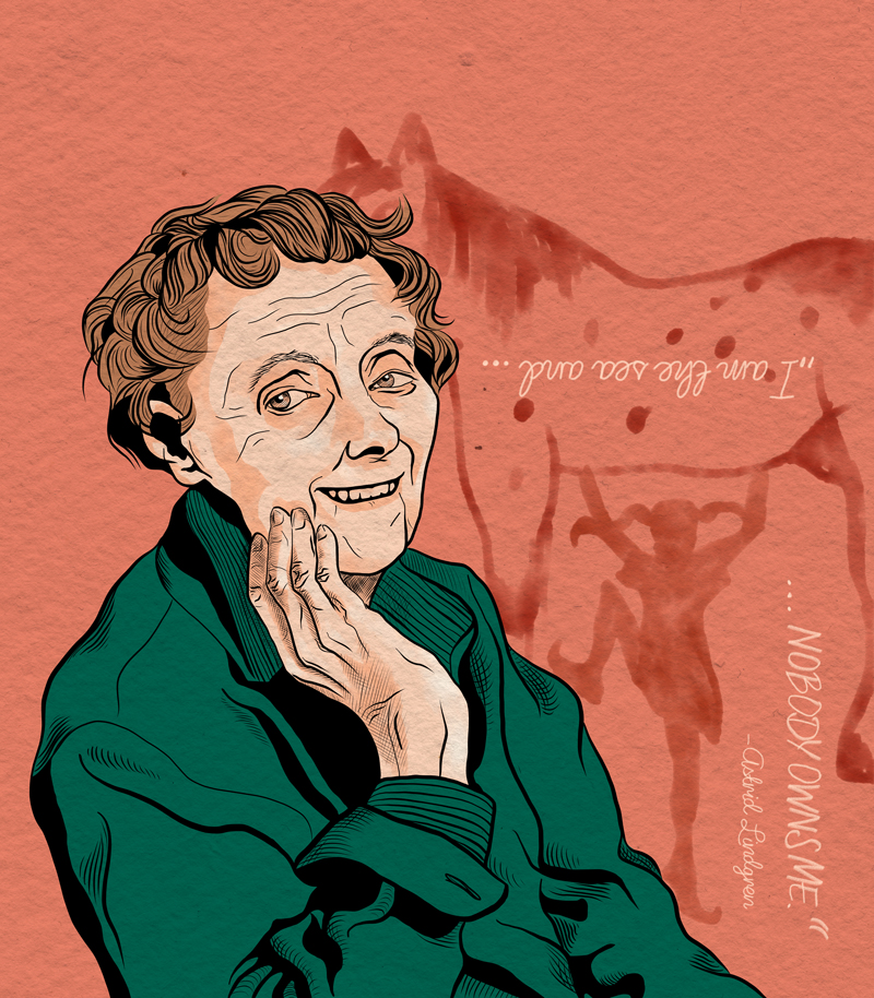 Laura Finke Illustration – Human Rights Astrid Lindgren
