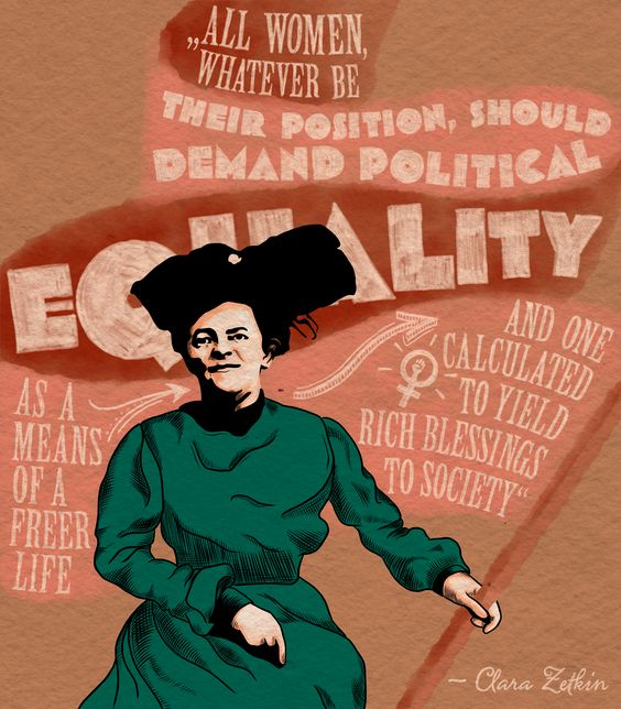 Laura Finke Illustration – Human Rights Clara Zetkin