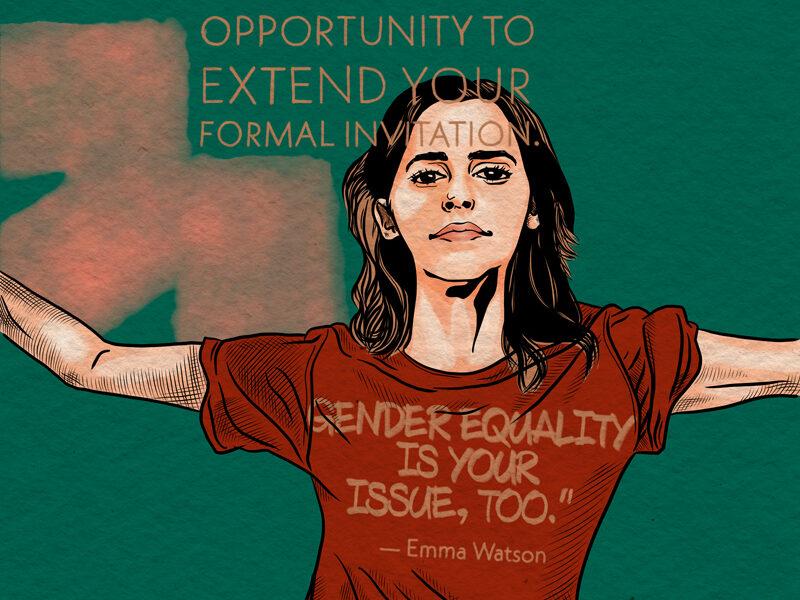 Laura Finke Illustration – Human Rights Emma Watson