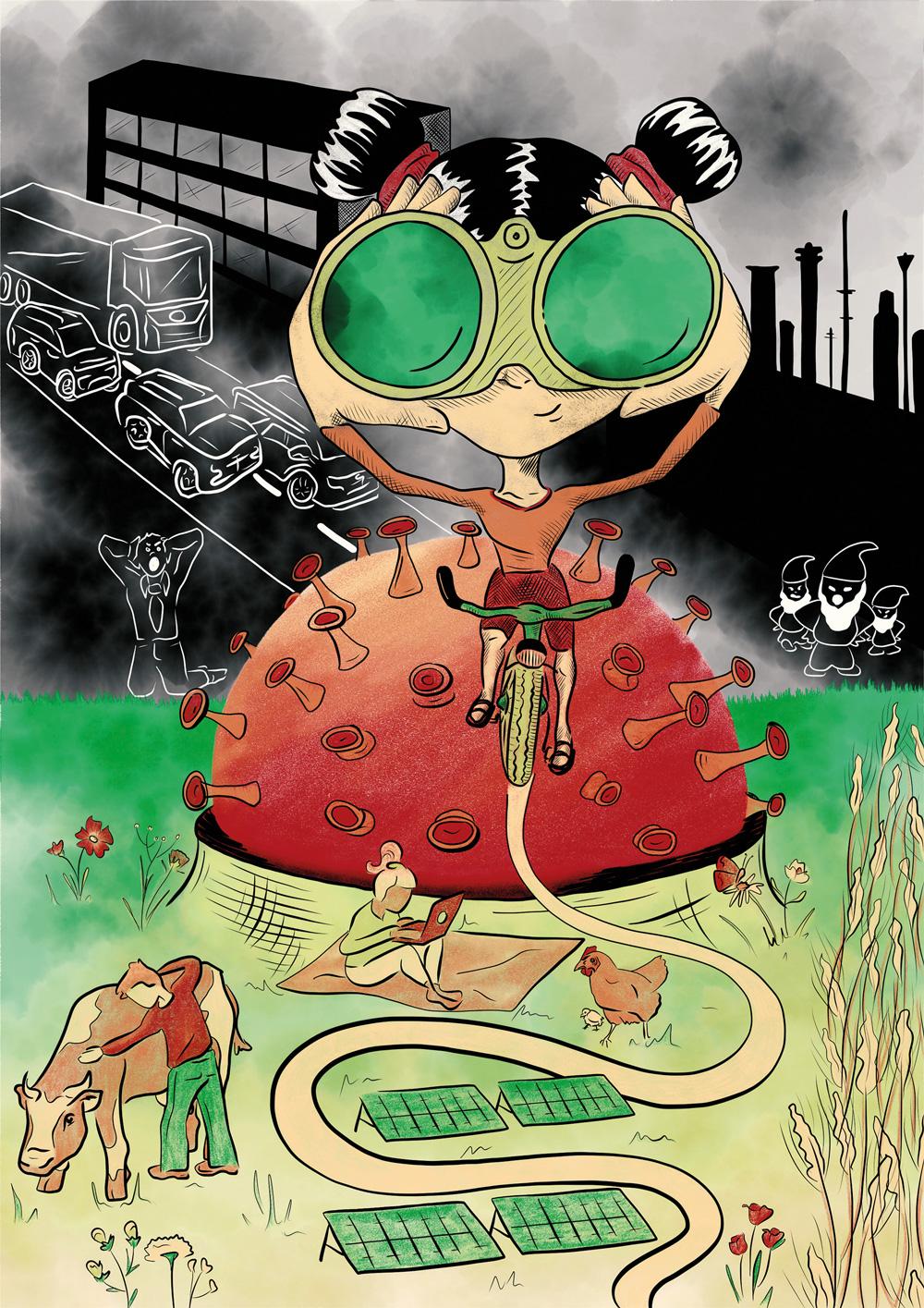 Laura Finke Illustration – VonWegen Magazin Zukunftsvision Corona