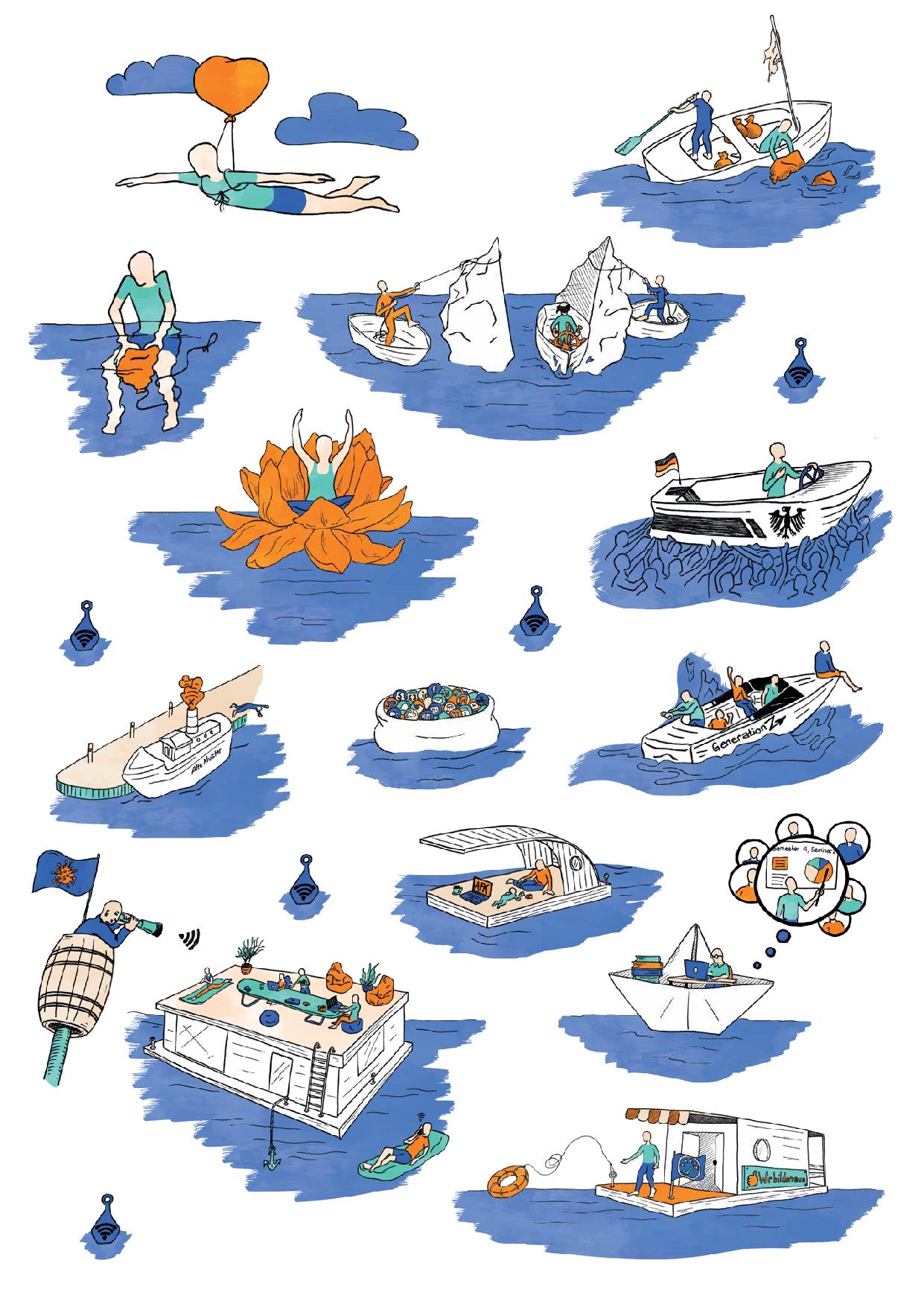 "Laura Finke Illustration – faktor Magazine ""Stark bleiben"""
